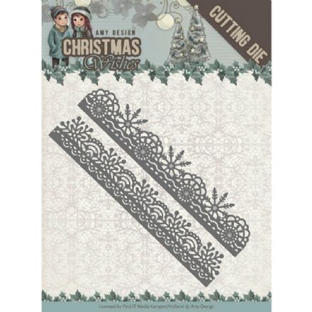 ADD10150 ~ Snowflake Borders Die~ Christmas Wishes  ~ Amy Design
